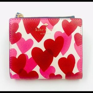 ba06240d744d kate spade Bags - KATE SPADE NEW YORK RED   PINK HEARTS WALLET